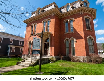 Warren, Pennsylvania, USA 4/11/20 The Warren County Historical Society building on 4th street, a converted house now a museum and educational library