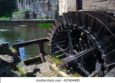 WARRICK CASTLE, WARRICK, UK - JUNE 5,2016: Castle mill. Warwick Castle is a medieval castle developed from an original built by William the Conqueror in 1068.