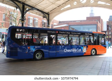 Warrington, United Kingdom - April 21st 2018: Warrington's Own Buses launch brand new high spec buses for services across Cheshire and South Warrington