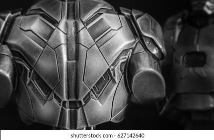 warrior back metal armor