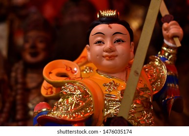 Warrior statue at a Chinese temple