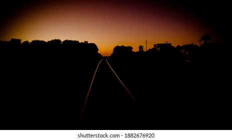 Warrnambool Sunet On The Traintracks