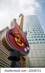 WARSAW - APRIL 30: Hard Rock Cafe logo. April 30, 2008 in Warsaw, Poland