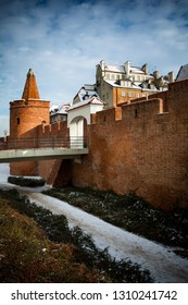 Warsaw fortification wall by Podwale Street in the Polish capital