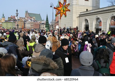 WARSAW - JANUARY 06: Paraders march in the annual Three Kings Day Parade on January 06, 2011 in Warsaw, Poland.