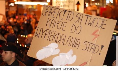 """""""Warsaw, Masovian/Poland - 10.30.2020: Strajk kobiet, 30.10"""""""