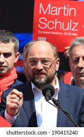 WARSAW - MAY 1: Martin Schulz, German politician and President of the European Parliament during the International Workers Day (Labor Day), on May 1, 2014 in Warsaw, Poland.