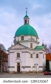 Warsaw, Mazovia / Poland - 2018/12/15: Monastery of Benedictine Nuns of Perpetual Adoration at the New Town Market Square in the historic old town quarter of Warsaw