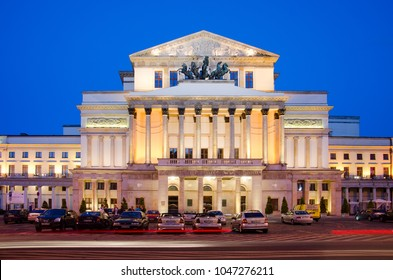 WARSAW, MAZOVIA PROVINCE / POLAND - JUNE 1, 2015: Grand Theater building (1833), Theater Square.
