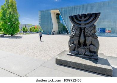 WARSAW, MAZOVIA PROVINCE / POLAND - MAY 5, 2018: Museum of the History of Polish Jews 'Polin'. Designed by Rainer Mahlamäki.