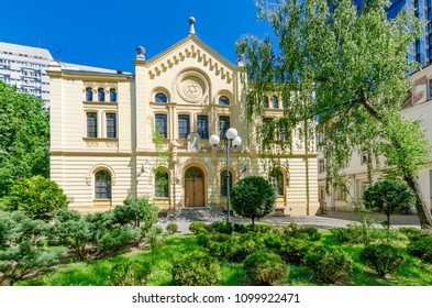 WARSAW, MAZOVIA PROVINCE / POLAND - MAY 5, 2018: The Nozyk Synagogue, prewar Jewish house of prayer, the only surviving WW2 in Warsaw.