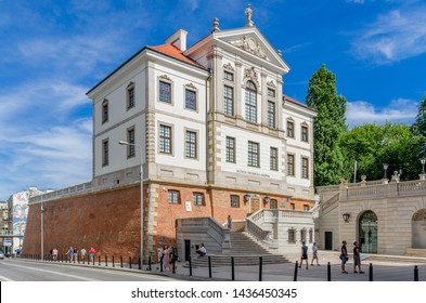 WARSAW, MAZOVIAN PROVINCE / POLAND - JUNE 23, 2019: The Fryderyk Chopin museum at Ostrogski castle.