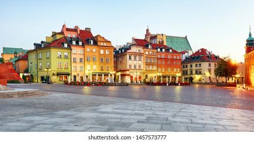 Warsaw Old Town, Plaz Zamkowy, Poland, nobody - Shutterstock ID 1457573777