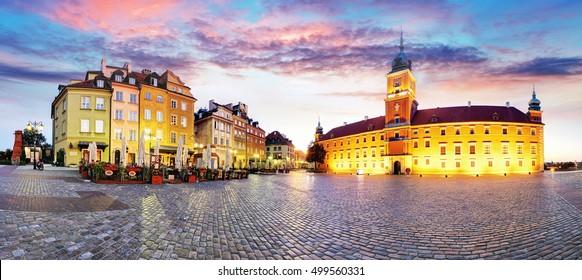Warsaw Old Town, Plaz Zamkowy, Poland, nobody - Shutterstock ID 499560331