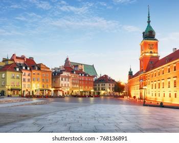 Warsaw Old Town, Plaz Zamkowy, Poland, nobody - Shutterstock ID 768136891