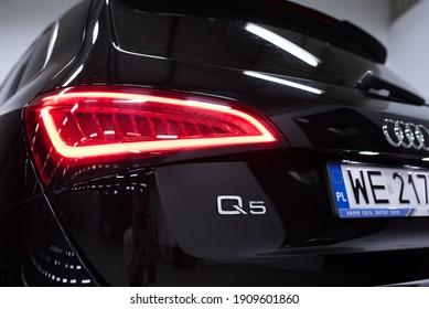 Warsaw, Poland - 01-30-2021: 2019 Audi Q5 photoshoot
