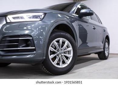 Warsaw, Poland - 03-06-2021: 2019 Audi Q5 photoshoot