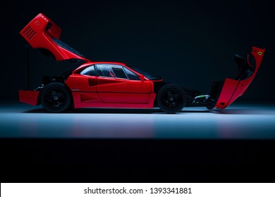 Warsaw, Poland - 05/09/2019: Studio Photo of Ferrari F40 LW
