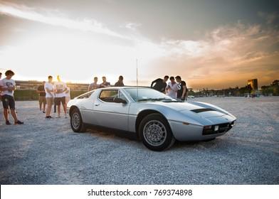 Warsaw, Poland - 06/16/2017: Maserati Merak at Youngtimer Warsaw