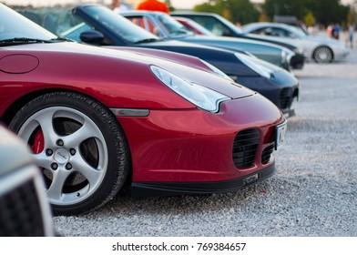 Warsaw, Poland - 06/16/2017: Porsche 911 Turbo at Youngtimer Warsaw