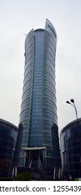 WARSAW POLAND 09 18 17:  Warsaw Spire. Modern office building. The Eversier Spire is an ideal meeting point for business and leisure. A modern landmark and a powerful symbol of Warsaw energy