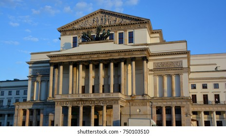 WARSAW POLAND 09 18 17: National Theatre  was founded by monarch, Stanis?aw August Poniatowski. The theatre shares the Grand Theatre complex with another national venue, the Poland's National Opera.