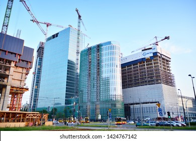 Warsaw, Poland. 14 June 2019. Construction of the Warsaw Hub. The Warsaw HUB will comprise 75,000 square metres of office space