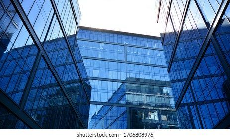 Warsaw, Poland. 16  April. Modern office building in the prestigious district of Warsaw Wola