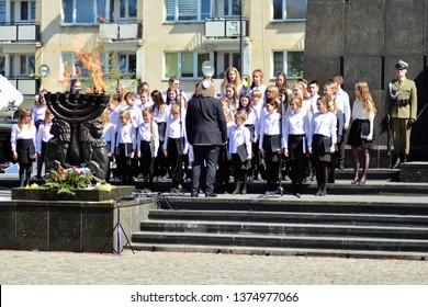 Warsaw, Poland. 19 April 2019. Celebrations of the 76th anniversary of the outbreak of the Warsaw Ghetto Uprising
