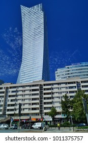 WARSAW, POLAND, 20,JULY 2016 ;The luxury residential project from Orco Property Group. The skyscraper is one of the most prominent constructions in Warsaw