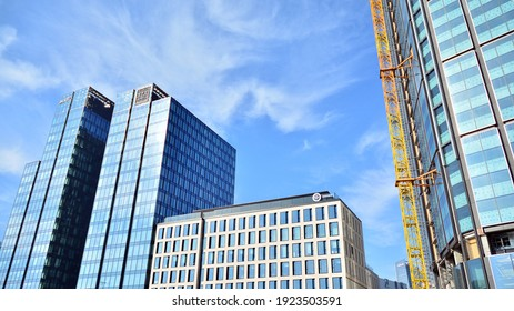 Warsaw, Poland. 21 February 2021. Construction site of an Varso Place office building.