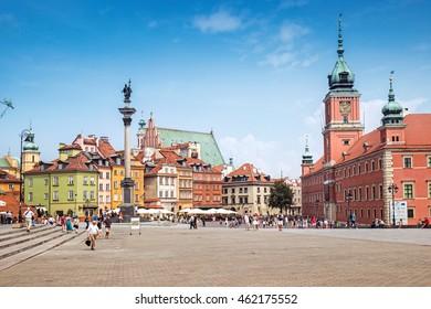 WARSAW, POLAND - 27 July 2016: Warsaw old town, Poland