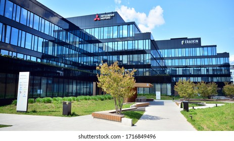 Warsaw, Poland. 28 April 2020. Neopark is a modern, stylish and innovative office park being developed in a strategically located business hub of Mokotow.