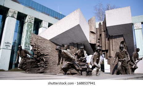 Warsaw, Poland. 28 March 2020. Warsaw Uprising Monument is a monument in Warsaw, Poland, dedicated to the Warsaw Uprising of 1944.