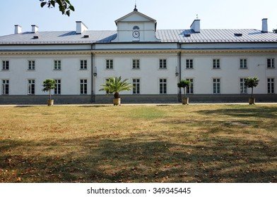 WARSAW, POLAND -29 AUG 2015- The baroque Lazienki Palace (Palac Lazienkowski) is located in the Royal Baths Park in Warsaw.