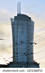 Warsaw, Poland. 5 December 2018. Warsaw Spire. Modern office building.Warsaw Spire is a perfect meeting spot for business and leisure.