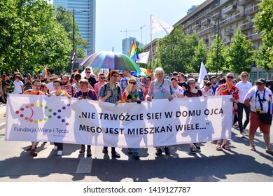 Warsaw, Poland. 8 June 2019. Warsaw's Equality Parade.The largest gay pride parade in central and eastern Europe brought thousands of people to the streets of Warsaw.