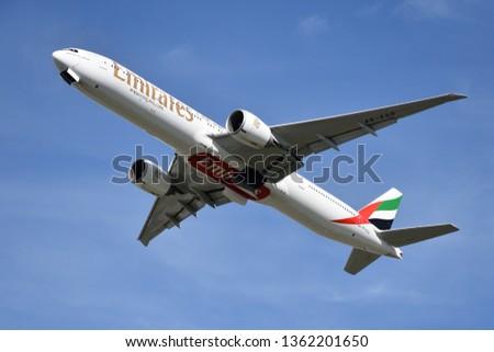 WARSAW POLAND APRIL 14 2018 Emirates Stock Photo (Edit Now