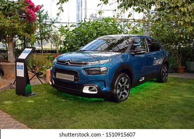 Warsaw, Poland - April, 20, 2018: Citroen C4 Cactus car during presentation.
