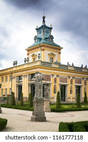 WARSAW, POLAND - AUGUST 11: The royal Wilanow Palace in Warsaw