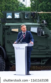 Warsaw, Poland - August 15, 2018: President of Poland Andrzej Duda at the Polish Armed Forces Day ceremony.
