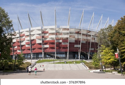 Warsaw, Poland - August 18, 2014: Entrance to National Stadium in Warsaw