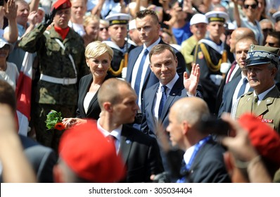 WARSAW, POLAND - AUGUST 6, 2015: New president of Poland