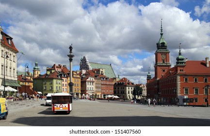 WARSAW, POLAND, CIRCA 2013 - The old city central square in the summer day circa 2013 in Warsaw, Poland