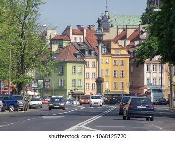 WARSAW, POLAND - CIRCA MAY 2007: Starego miasta meaning old town - post war modern replica