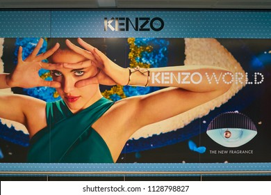 WARSAW, POLAND - CIRCA NOVEMBER, 2017: Kenzo AD in Warsaw Chopin Airport.