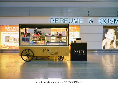 WARSAW, POLAND - CIRCA NOVEMBER, 2017: Paul in Warsaw Chopin Airport. Paul is a French chain of bakery/cafe restaurants.