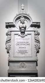 Warsaw, Poland, Europe, December 2018, Resting place of Chopins heart in the Holy Cross Church