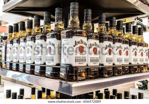 WARSAW, Poland, February 06, 2017 Jim Beam Bourbon Kentucky Straight Whiskey