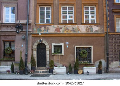 Warsaw, Poland - February 24, 2018: Restaurant in Old Town in Warsaw